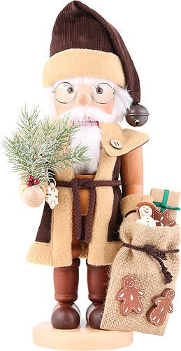 German Christmas Nutcracker Santa Claus natural - 40,0cm / 15.7inch - Christian Ulbricht
