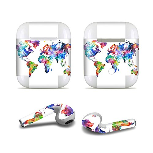 Price comparison product image Masino Bluetooth Headset Protective Sticker Protector Decal Skin Cover for Apple AirPods 2 & 1 with Charging Case,  NOT Compatible with AirPods 2 Wireless Charging Case (for Apple AirPods,  Decal)