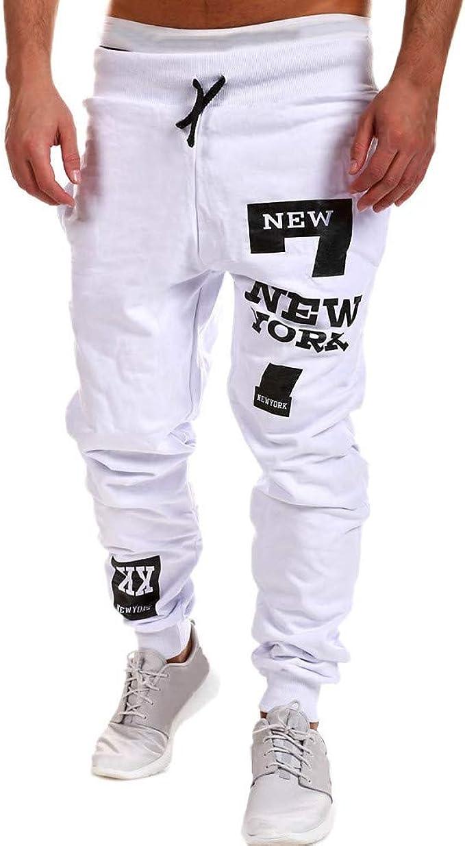 Oliviavan, Pantalones Largos para Hombres Deportes Ocio Impresión ...