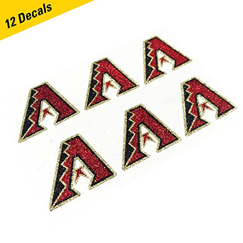 EyeBlack Arizona Diamondbacks MLB Glitter Cheek Decals, Perfect for Game Day and Tailgate (12 Decals)