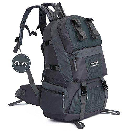 OCCIENTEC Rucksacks Camping 50l Backpack Women Travel Men for Hiking Rucksack Climbing Grey Trekking XUXqAcSr