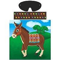 Pin La cola en el juego de la fiesta de burro | Colección de juegos | Accesorio de fiesta