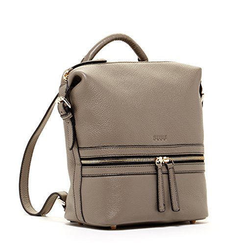 For The Gray Leather Women SUSU Genuine Ashley Backpack 84wFxXq