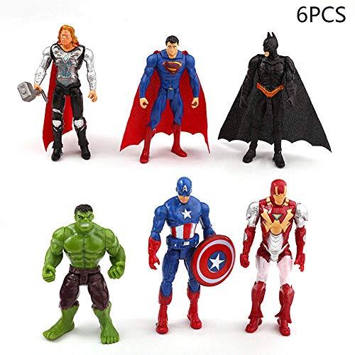 Superhero Avengers Marvel Legends Collectible Model   6 Piece Action Figure Set   Cake Topper