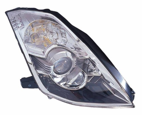 Depo 315-1162R-ASH Nissan 350Z Passenger Side Composite Headlamp Assembly with Bulb and Socket