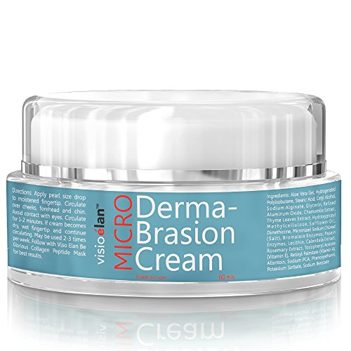 Microdermabrasion Cream Gentle Beads by Visio Elan - Exfoliating Face Scrub - Moisturizing Dual Action Base Reduces Pores, Wrinkle & Fine Lines - Men & Women Surfacing Treatment - All Skin Types ()