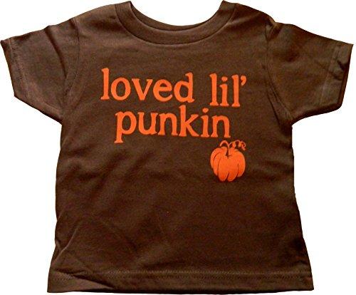 "Ptshirt.com-19207-Custom Kingdom Baby Boys/Girls ""Loved Lil Punkin"" Pumpkin T-Shirt-B017XYZKFA-T Shirt Design"