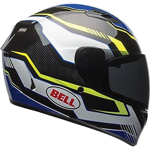 Bell Qualifier Unisex-Adult Full Face Street Helmet (Torque Blue/Yellow, Medium) (D.O.T.-Certified)