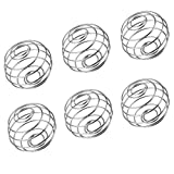 """6 PACK Stainless Blender Mixing Wire Whisk Ball for Sports Drink Protein Shaker Cup Bottle Mixers(1.45""""1.8"""") (6)"""