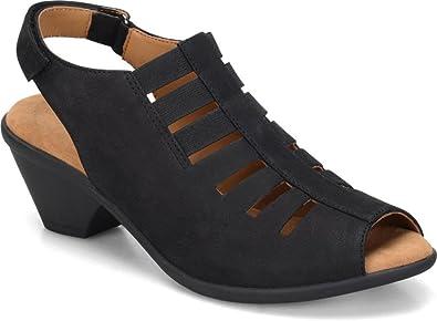Comfortiva Women's, Faye Mid Heel Sandal Black ...