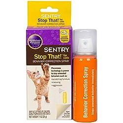 Sentry Stop That Pet Bad Behavior Corrector Noise & Pheromone Spray for Cats 1oz