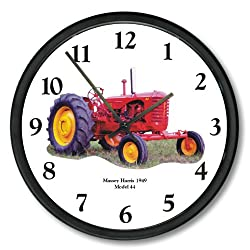 New 1949 Massey Harris Model 44 Tractor 10 Wall Clock