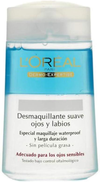 L'Oréal Paris Dermo Expertise Desmaquillante Ojos y Labios sin Efecto Gaso, 125 ml