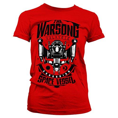 Camiseta Licenciado Warsong Ragnarok Space Rojo Mujer Vessel Oficialmente Thor The 48U7qw5f5x