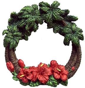 Amazon.com: Hawaiian Christmas Ornament Wreath Palm Tree ...