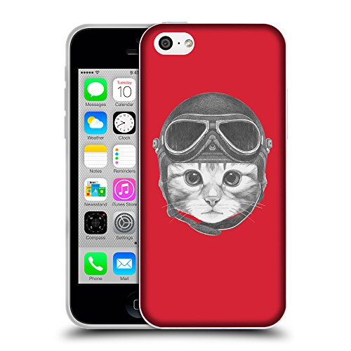 GoGoMobile Coque de Protection TPU Silicone Case pour // Q05280601 Casque kitty Alizarine // Apple iPhone 5C