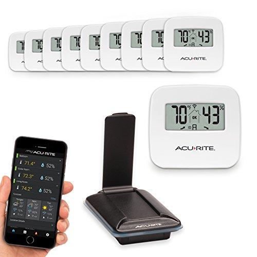 Acurite 01168M 10-Sensor Indoor Temperature and Humidity ...