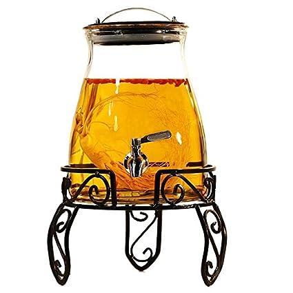 Homebrew fermentador de cerveza y vino Botella de vidrio sin plomo del hogar con grifo de