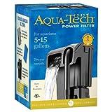 Aqua-Tech Power Aquarium Filter w/ 3-Step Filtration, Negro, 5 to 15-Gallon