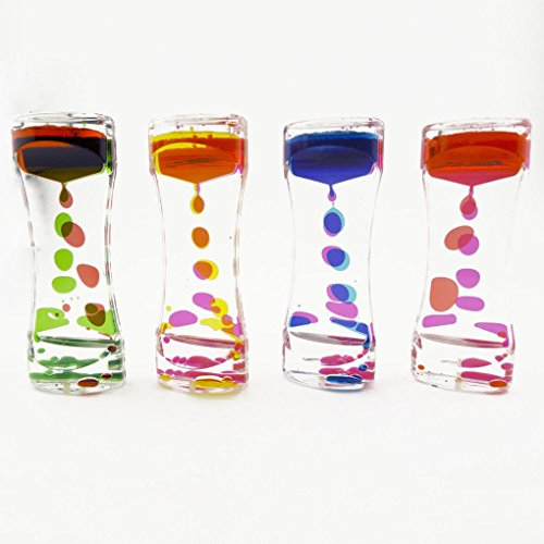 Mememall Fashion Spinning Dripping Zig Zag Liquid Motion Timer Oil Toy Multi-Color Autism Lot Box ()