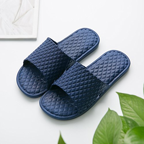 Anti Slippers Summer Slippers Bathroom Cool Are 45 fankou Summer Room Stay The Male Female in Floor Blue Thick and Slip The Dark in Home 44 Couples Bath The ZxwqtX