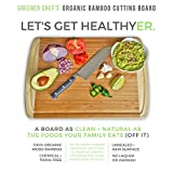 Best ORGANIC Bamboo Cutting Board - FDA Approved for Your Safety - Premium EXTRA LARGE Wood Carving Board & Antimicrobial Wooden Kitchen Chopping Board with Drip Groove - Also a Stylish Serving Tray