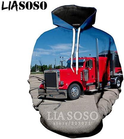 2019 Winter New Men Women Sweatshirt 3D Print Car Truck Hoodie Long Sleeve Top Casual Harajuku Hip Hop Pullover 14