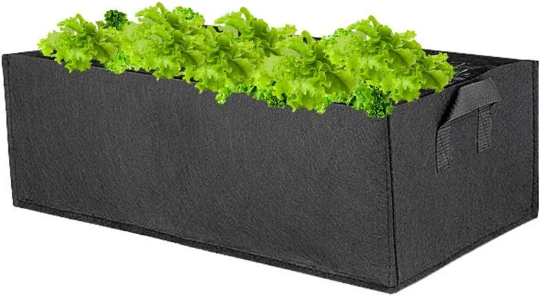 Planter Garden Bed Bag,Rectangle Fabric Flower Raised Bed Garden Grow Bags Fabric Pots Breathable Planting Container for Herb Flower Vegetable Plants (M-23x11.81x7.87 inch)