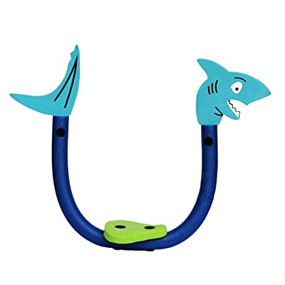 Egoelife Lovely Cartoon Shape Foam Noodle No Need to Inflate with a Cushion (Blue): Toys & Games