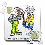 Jack of Arts Illustration - Elderly Couple with Angina - 10x10 Inch Puzzle (pzl_44575_2)
