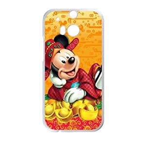 HTC One M8 Cell Phone Case White Mickey Mouse 8 Pqpwt