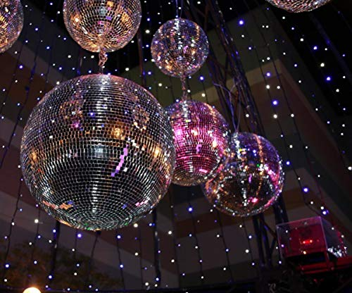 (10x8ft Mirror Ball Disco Party Photography Backdrop Glitter Lights 70's 80s Scene Setters Background Photo Studio)