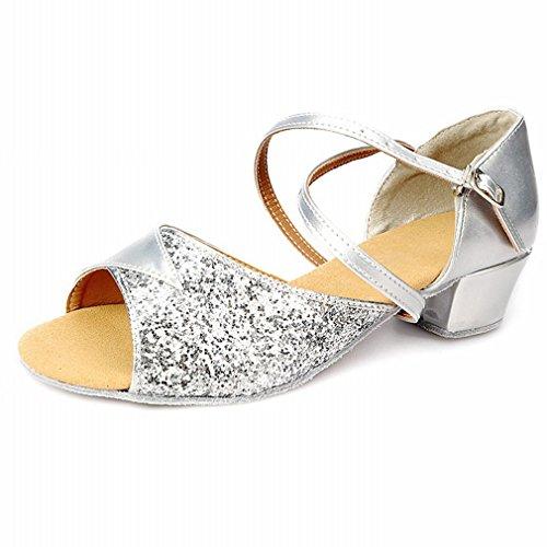 Ejercicio de Zapatos Jazz Samba Zapatos Baile de BYLE Baile Modern Cuero Tobillo 40 Sandalias Latino de Zapatos Wf86xRT