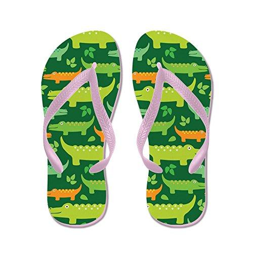Cafepress Krokodil Alligator Jungle - Flip Flops, Grappige String Sandalen, Strand Sandalen Roze