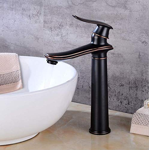 Black ancient basin faucet, upper basin cold and hot water faucet, bathroom faucet, lower basin retro faucet, European faucet