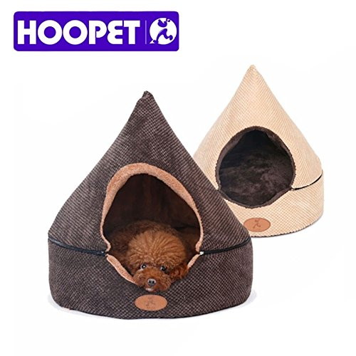 [HOOPET Pet Dog Cat Tent House All Seasons Dirt-resistant Soft Yurt Bed with Double Sided Washable] (Shock Treatment Costumes)