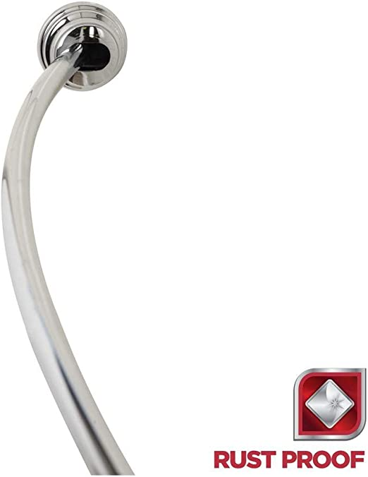 Amazon Com Glacier Bay Tension Curved Shower Rod In Chrome Home