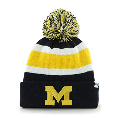 '47 NCAA Michigan Wolverines Breakaway Cuff Knit Hat, One Size Fits Most, Navy