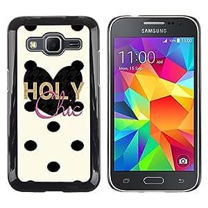 Exotic-Star ( Chick Dalmatian Polka Dot Heart ) Fundas Cover Cubre Hard Case Cover para Samsung Galaxy Core Prime / SM-G360