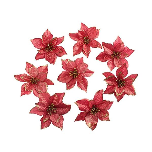 OurWarm-50pcs-Glitter-Poinsettia-Christmas-Tree-Ornaments-Artificial-Poinsettia-Flowers-for-Christmas-Decorations-Gold