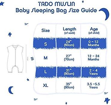 Baby Bedding Baby TADO MUSLIN Organic Cotton Baby Sleep Sack ...