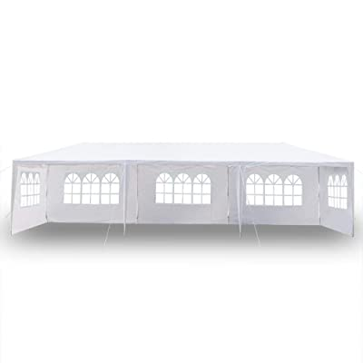 SHENWEI LIU Party Tent 3 x 9m Five Sides Waterproof Tent with Spiral Tubes, Patio Tent, Wedding Tent (White) : Garden & Outdoor