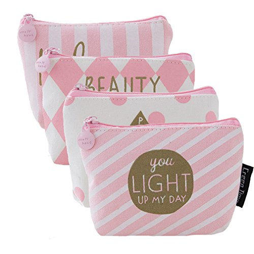 Purse Accessory Set (Retro Money Bag Small Cute Coin Purse(Pack of 4) (Pattern 8))