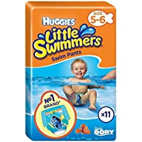 Huggies Little Swimmers Talla 5-6 Mediana 11 Por