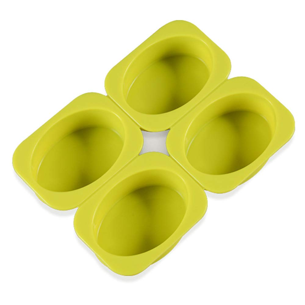 2 Pack 4 Cell Sponge Finger Silicone Soap Mould Cake Bar Bakeware Mold Baking Tray Square