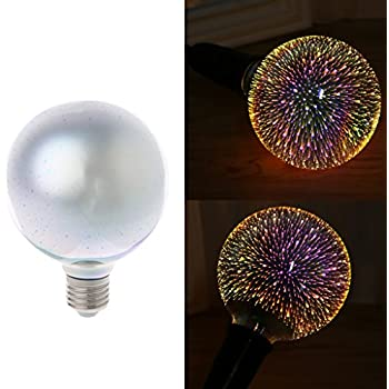 Misright E27 G95 Colourful 3D Star Shine Decoration LED Light Bulb Multiple Reflection Alluminum Plated Glass