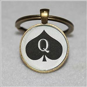 of spades keychain pendant jewelry