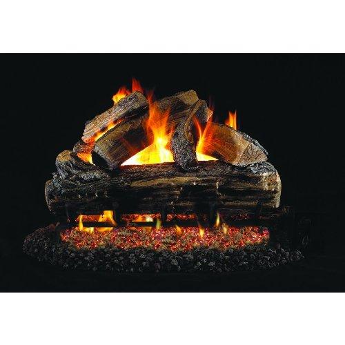 Peterson Real Fyre 20-inch Split Oak Gas Log Set With Vented Natural Gas G4 Burner - Manual Safety Pilot -