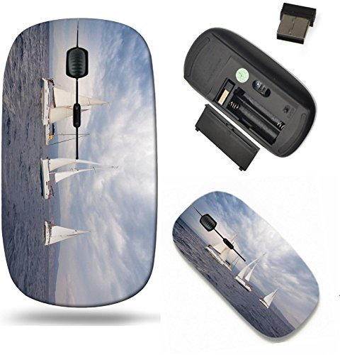 (Liili Wireless Mouse Travel 2.4G Wireless Mice with USB Receiver, Click with 1000 DPI for notebook, pc, laptop, computer, mac book ID: 22086143 Sailing in Aegean Sea in cloudy weather Luxury yacht)