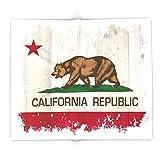 Society6 California Republic Flag On Woodgrain 88'' x 104'' Blanket